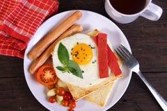 Bullseye Egg on Bread Toast Royalty Free Stock Photos