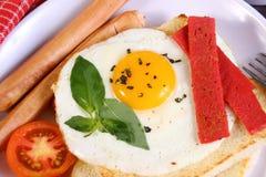 Bullseye Egg on Bread Toast Stock Image