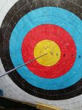 Bullseye em um alvo Foto de Stock