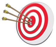 Bullseye en Pijlen stock illustratie