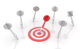 Bullseye i strzałki royalty ilustracja