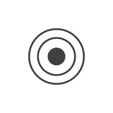 Bullseye icon , target solid logo illustration, pictogram Stock Photos