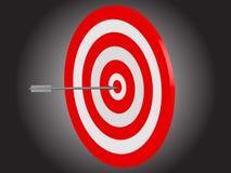 Bullseye impressionante da seta Imagem de Stock Royalty Free