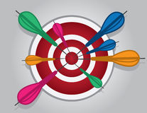 Bullseye Many Darts Royalty Free Stock Photos