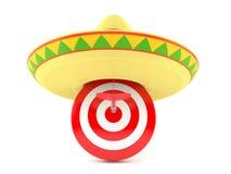 Bullseye met sombrero royalty-vrije illustratie
