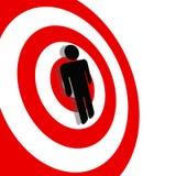 bullseye międzynarodowego mężczyzna symbolu czerwony cel Zdjęcie Royalty Free