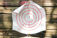 Bullseye of paintball game Royalty Free Stock Images