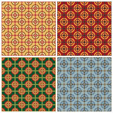 Bullseye Pattern. A seamless geometric bullseye pattern in four colorways Stock Images