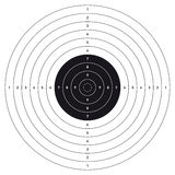 Bullseye shooting target. royalty free stock photo