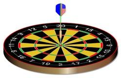 Bullseye strzałki deska Na bielu royalty ilustracja