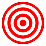 Bullseye target. Bullseye archery target isolated on white Stock Images