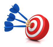Bullseye target concept  3d illustration Stock Photos
