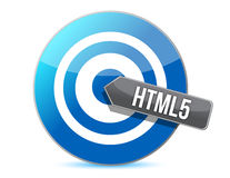 Bullseye target internet html5 illustration Stock Photo