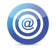 Bullseye target internet illustration Royalty Free Stock Image