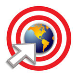 Bullseye target world success Stock Photo