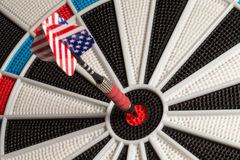 Bullseye - US Flag Tail Royalty Free Stock Photo