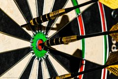 Bullseye werpt royalty-vrije stock foto's