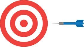 Bullseye z strzałką Zdjęcia Royalty Free