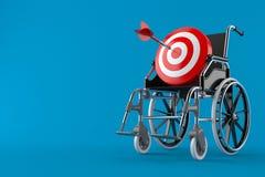 Bullseye z wózkiem inwalidzkim ilustracja wektor