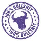 Bullshit stamp. Bullshit vector stamp on white background Stock Images