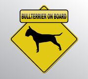 Bullterrier on board Royalty Free Stock Images