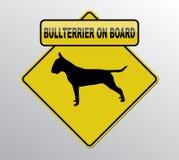 Bullterrier a bordo Imágenes de archivo libres de regalías