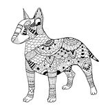 Bullterrier dog coloring book vector illustration Royalty Free Stock Photo