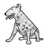 Bullterrier dog doodle Royalty Free Stock Images