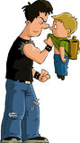Bully. The bully and the little boy, vector Stock Images