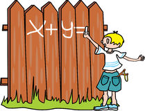 Bully-boy writes on the fence Royalty Free Stock Image