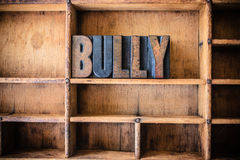 Bully Concept Wooden Letterpress Theme Stock Photography