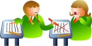 Bully da sala de aula ilustração do vetor