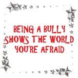 Bully fear. Bully sign on white background with metallic stars border illustration stock illustration