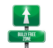 bully free zone road sign concept Stock Photography