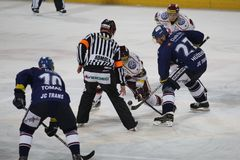 Bully in Sparta prague vs. HC Vitkovice match Stock Image