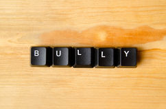 Bully word. With keyboard buttons Stock Images