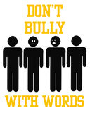 Bully with words. Poster black and gold illustration Royalty Free Stock Photography