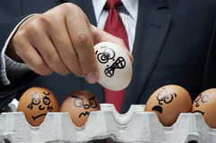 Bullying. Concept in workplace with businessman in background stock photos