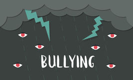 Bullying Behaviour Community Problem Icon Stock Photos