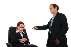 Bullying bossy. Businesswoman getting an harsh denouncement Stock Image