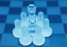 Leadership teamwork chess royalty free stock photos