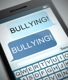 Bullying concept. Illustration depicting a phone with a bullying concept Stock Images