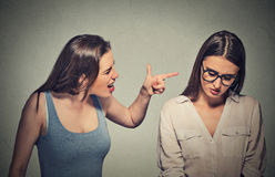 Bullying, friendship and people concept Stock Photography