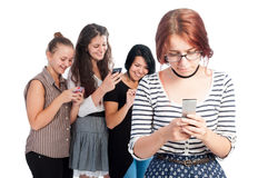Bullying girls Stock Images