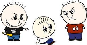 Bullying little kid Stock Image