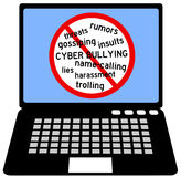 Bullying. Say no to cyber bullying Royalty Free Stock Images