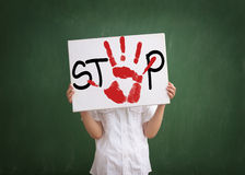 Bullying at school is problem in today's schools Royalty Free Stock Images