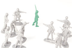 Bullying Toy Soldiers Stock Photography