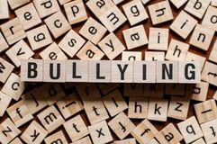 Bullying word concept stock photography