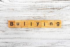 BULLYING word made with wooden blocks concept Stock Photography